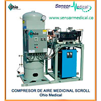 Compresor de aire medicinal Scroll Ohio Medical Sensor Medical Ltda.